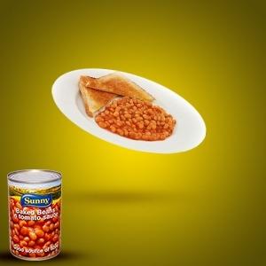 Haricots Blanc a la sauce Tomate sur des tranches de pain