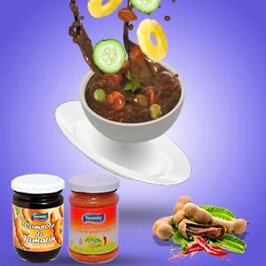Salade de fruits avec compote de tamarin
