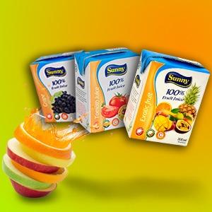 Sunny Pure Fruit Juice Brik 200ML