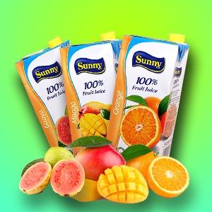 Sunny Pure Fruit Juice Brik 1L