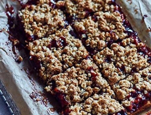 Oatmeal Crumble Jam Bars Recipe