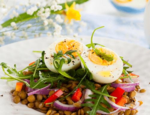 Salade de lentilles aux œufs durs