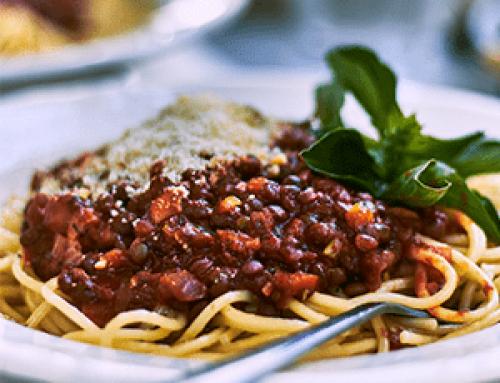 Spaghetti Lentil Bolognese a la dente!