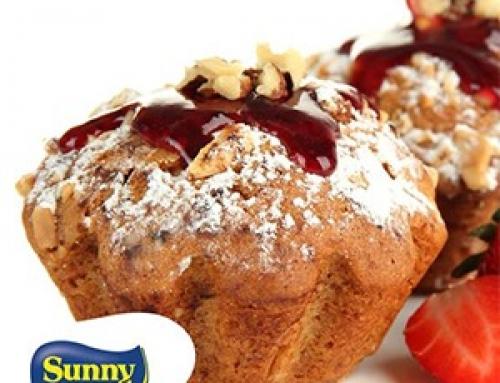 Muffins moelleux à la confiture de fraises