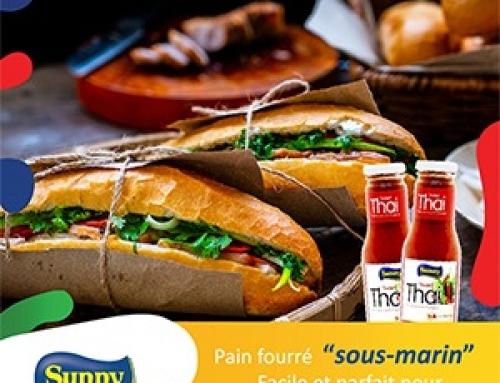 Pain Fourré au Sunny Thai Chilli sauce