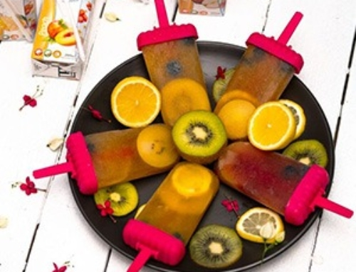 Sunny fruit Juice Popsicle Recipe