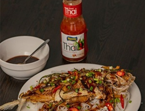 Fish fillet & rice noodles (meefoon) with Sunny Thai Sauce