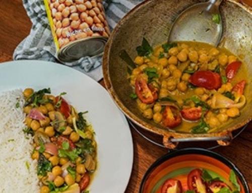 Sunny Chickpeas, Spinach & Mushroom Curry