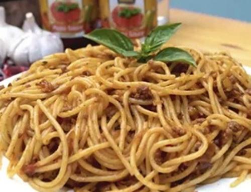 Spaghetti Bolognaise Recipe  with Sunny Pasta Sauce