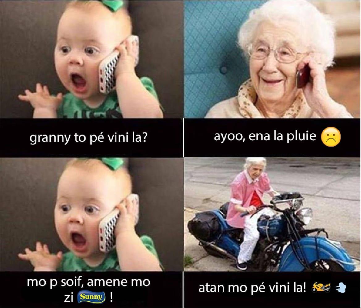 Grandmother's love for her grandchild