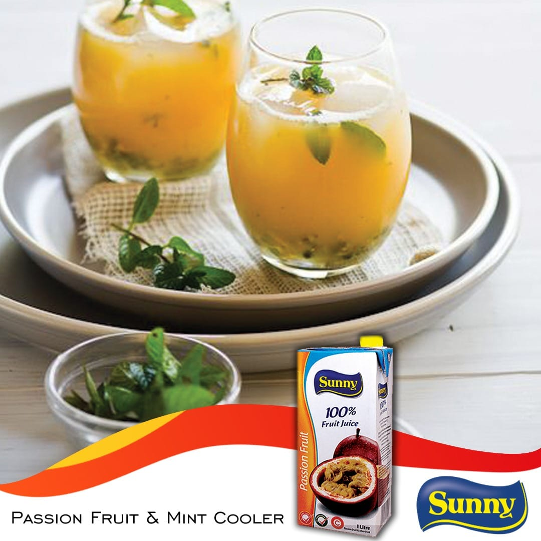 Passion fruit and mint cooler