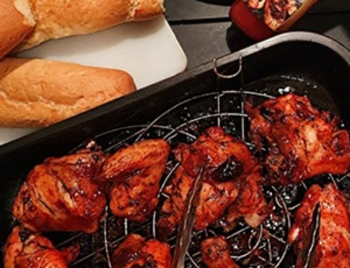 Juicy BBQ chicken with Sunny BBQ Sauce Recipe